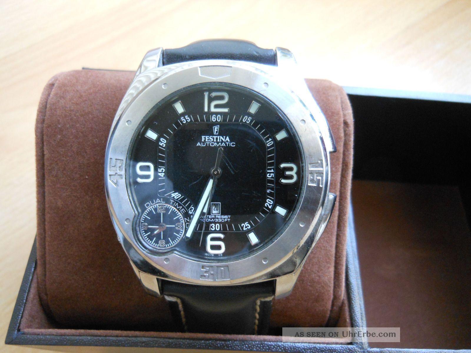 festina armbanduhr herren 16078chronograph automatik datum. Black Bedroom Furniture Sets. Home Design Ideas