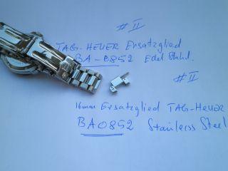 Tag Heuer.  Ersatzglied - Stainless Steel Armband Ba0852.  16mm Breite Bild