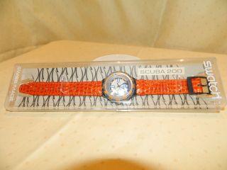 Swatch Scuba 200,  Ovp,  Limitierte Auflage,  Orange Bild