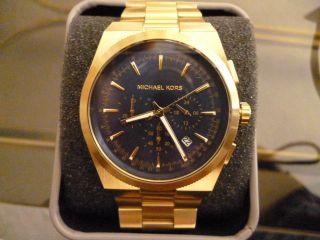 Michael Kors Mk8338 Herrenuhr Chronograph Edelstahl Gold Ungetragen,  Sammlung Bild