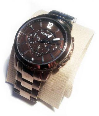 Fossil Herren Armbanduhr Fs4608,  Edelstahl Rosegold/kupferfarben,  Incl.  Stoppuhr Bild