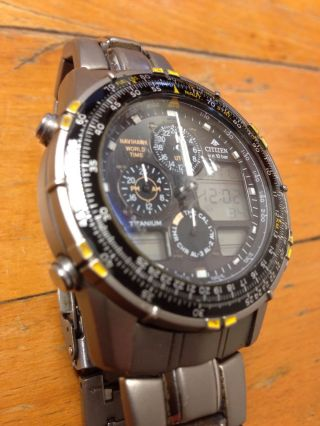 Citizen Navyhawk World Time Promaster Titanium 1.  Generation Bild