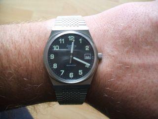 Uhrsammlung Alte Zentra Savoy Quartz Herrenuhr,  Armbanduhr,  Sammleruhr Bild