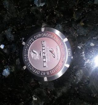Fortis B - 42 Cosmonauts Chronograph Deckel Bild