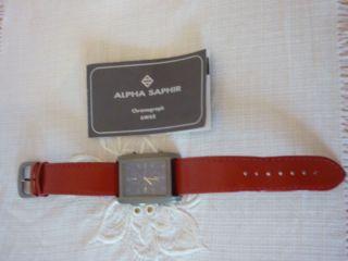 Alpha Saphir Chronograph 6w60 Herren Armband Uhr Herrenuhr Armbanduhr Bild