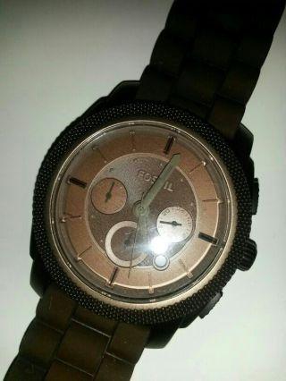 Herren Fossil Armband Uhr Braun Bild