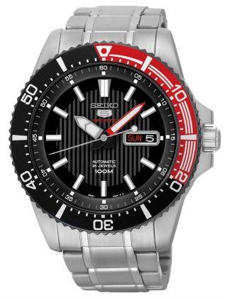 Seiko Herrenuhr Uhr Automatik 5 Sports Tag Datum 10 Bar Handaufzug Srp557k1 Bild