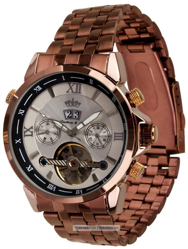 Lindberg & Sons Automatikuhr Piraeus - Unisexuhr,  Grosse Datumsanzeige Ø 42 Mm Armbanduhren Bild