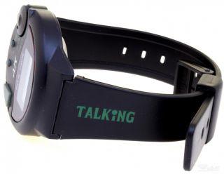 Sprechende Uhr Mit Kautschukband Schwarz Bild