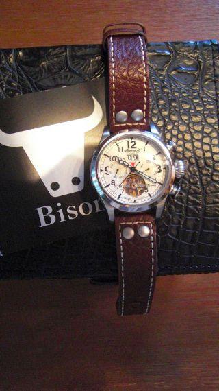 Ingersoll,  Braune Herren Uhr,  Bison Nr.  18,  Automatik,  Modell In4506,  Wie Bild
