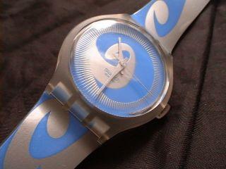 Swatch X - Large Sudk 111 Perfekt Wave Blau/ Silber Bild
