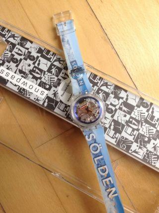Swatch Uhr Limited Edition Sölden Orig Verpackt Skipass Aufladbar Selten Bild