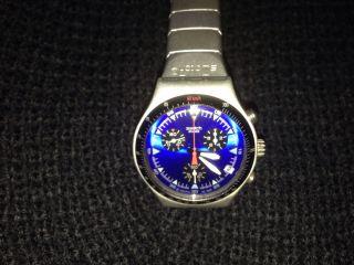 Herren Armbanduhr Swatch Aluminium Leicht Neue Batterie Bild