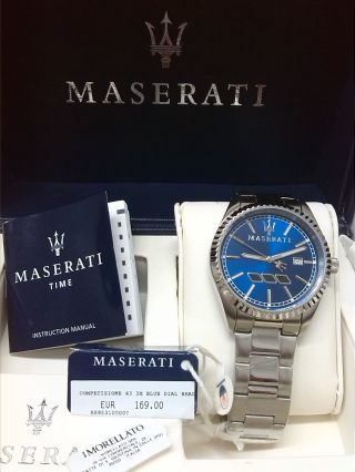 Maserati Herrenarmbanduhr Edelstahl 100m Bild
