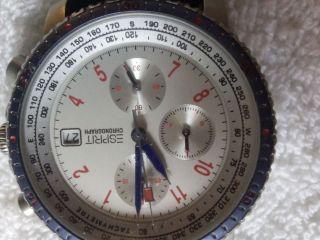 Esprit Crono Herrenarmbanduhr Mit Dunkelblauem Armband Bild