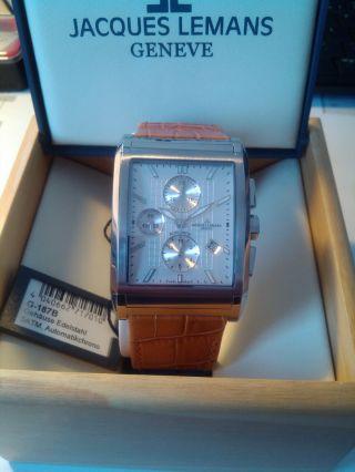 Jacques Lemans Herren Automatik Chronograph,  Valjoux 7750 Swiss Made,  Neuwertig Bild