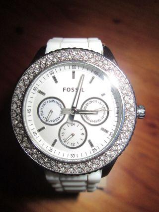 Fossil - Damen Uhr Elegant - Sportlich Mit Strass / Es - 3001/ Bild