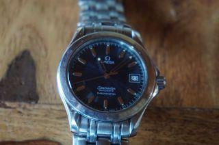Omega Seamaster Professional Chronometer Automatik Stahl Mit Blauem Ziffernblatt Bild