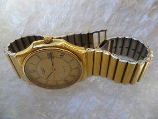 Longines.  Swiss Made.  Ref:744swiss4378 Herren Uhr.  Armband Gold/edelstahl Top Bild