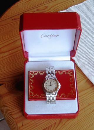 Rarität Cartier Uhr Cougar / Panthere Mit Cartier Uhrenbox Bild