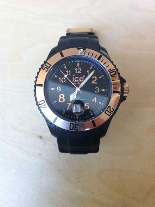 Tolle Ice Watch Uhr Schwarz Rosegold Bild