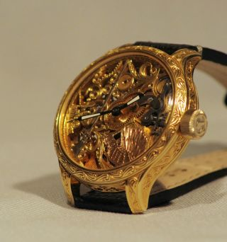 Omega Jagt Aus 1905 50mm Armbanduhr Skelettuhr Mariage Bild