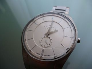 Wunderschöne Skagen Black Label Analog Swiss Watch / Uhr 924xls In Bild