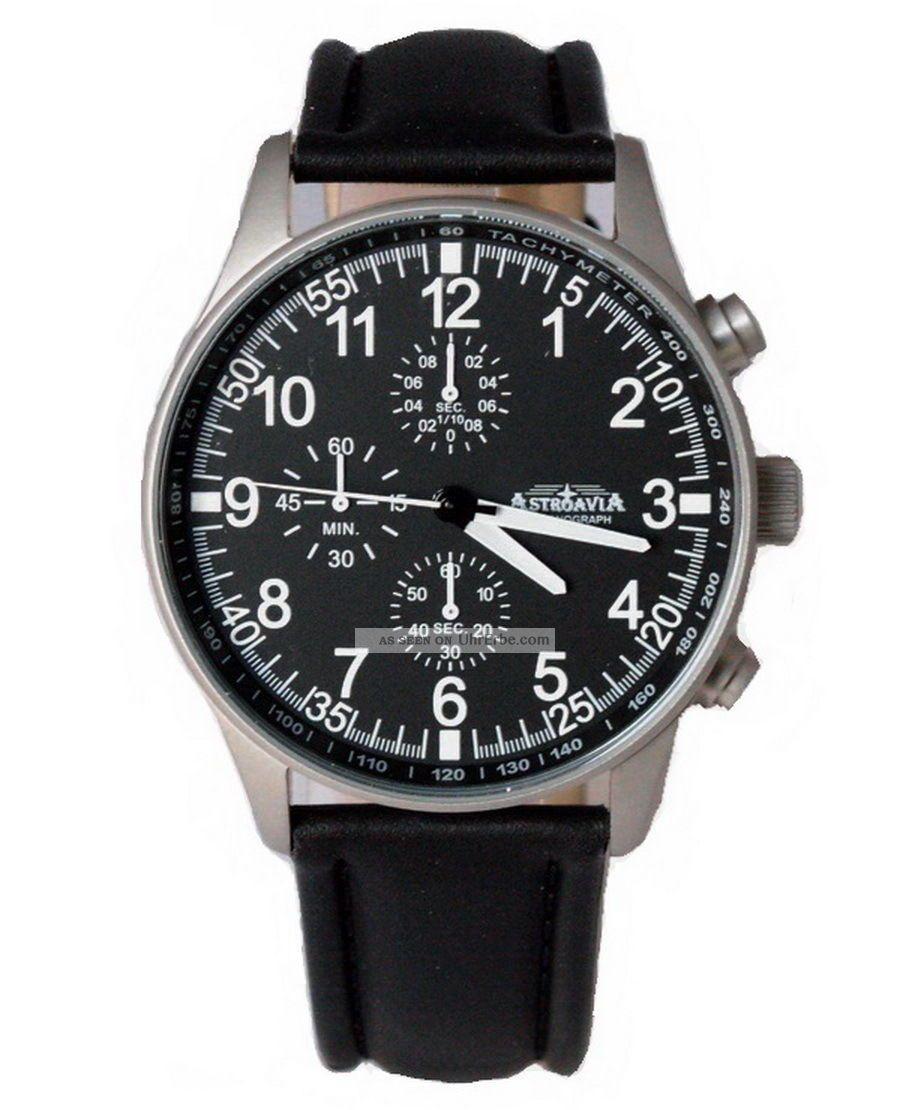 Astroavia N 7 L Chronograph Fliegeruhr Herrenuhr Edelstahl Uhr Mit Uhrenbox Armbanduhren Bild