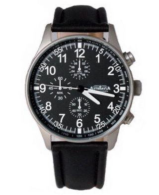 Astroavia N 7 L Chronograph Fliegeruhr Herrenuhr Edelstahl Uhr Mit Uhrenbox Bild