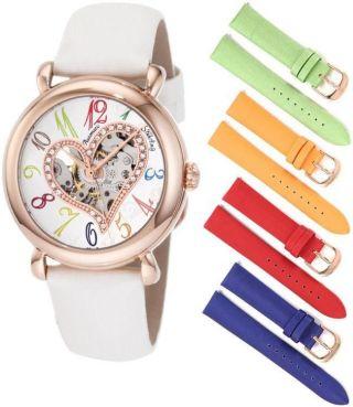 Stuhrling 109sw2 1145p2 Liebe Aphrodite Automatik Swarovski Damen - Armbanduhr Bild
