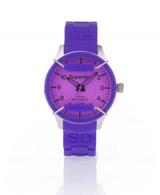 Neue Damen Superdry Scuba Midi Armbanduhr Purple Lila Bild