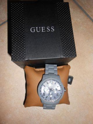 Guess Herren - Armbanduhr Mens Trend Multifunktion W0185g2 In Grau Bild