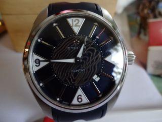 Eterna Kontiki Date Blau/ Braun Mit Datum Saphirglas Ref.  No.  1220.  41.  83.  1246 Bild