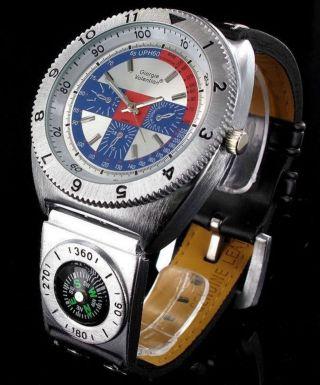 Giorgie Valentian Leder Armbanduhr Watches Herrenuhr Tachymeter Kompass Bild