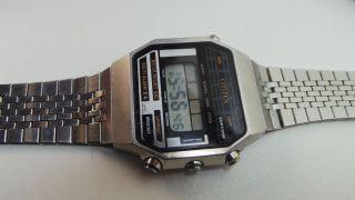 Hübsche Gut Erhaltene Citizen Gn - 4 - S Multi Alarm Lcd,  Edelstahlarmband Bild