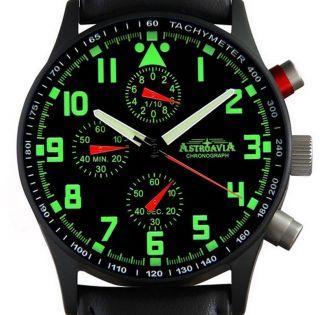 Astroavia N 84 Bl Chronograph Fliegeruhr Herrenuhr Edelstahl Uhr,  Uhrenbox Bild