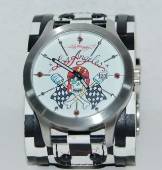 Ed Hardy Damenuhr Leder Watch Los Angeles Bild