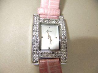 Uhr Damenuhr Armbanduhr S.  Oliver Rosa Silberfarben Glitzersteine Bild