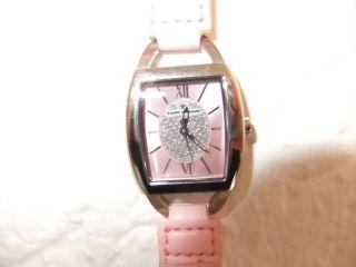 Uhr Damenuhr Armbanduhr Tom Tailor Rosa Geflochten Silberfarben Glitzer Tt05017 Bild
