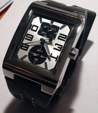 Festina F16280/1 Unisex Uhr Schwarzes Lederband,  Edelstahlgehäuse Bild