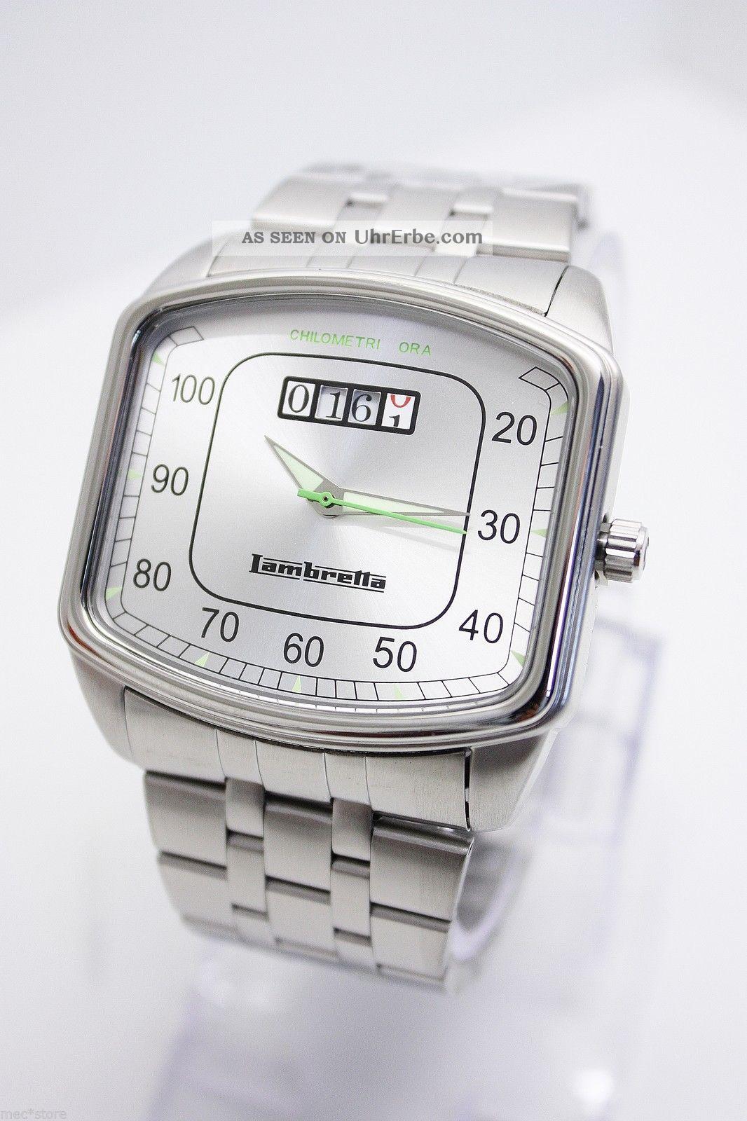 Lambretta He - Uhr - Chilometri Ora - Silber Armbanduhren Bild