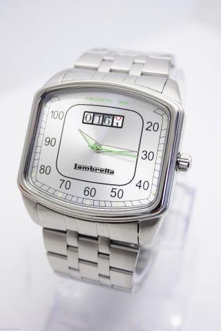 Lambretta He - Uhr - Chilometri Ora - Silber Bild