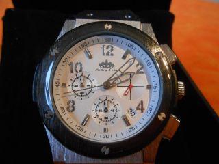 Lindberg & Sons Herren Chronograph Edelstahl Gebürstet Bild