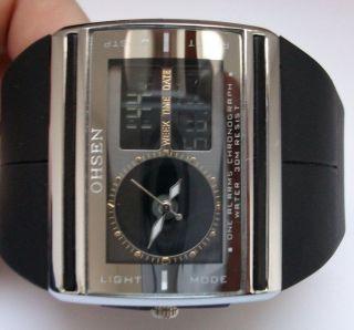Ohsen Chronograph Ad - 0518m Herrenarmbanduhr Wrist Watch Steel Back Stainless Bild