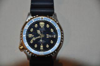 Citizen Promaster Diver Automatik,  Bicolor Blau / Gold,  Selten, Bild