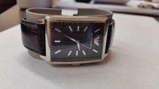 Giorgio Armani Ar0405 Armbanduhr Leder Schwarz Bild
