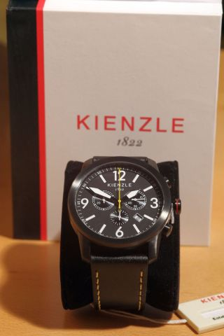 Kienzle Core Herren - Armbanduhr Xl Chronograph Analog Quarz Leder,  1822 Bild