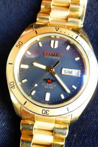 Armbanduhr Citizen Automatic Datum Und Tag (day/date),  Wr100,  21 Steine Metallband Bild