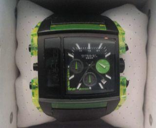 Sehr Schöne Diesel Herren Armbanduhr Leder Schwarz Dz - 7153 Bild