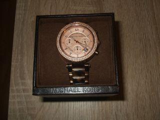 Michael Kors Uhr Rosegold M.  Strass Animalprint Bild